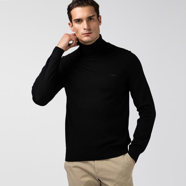 Lacoste Men's Turtleneck Merino Wool Sweater