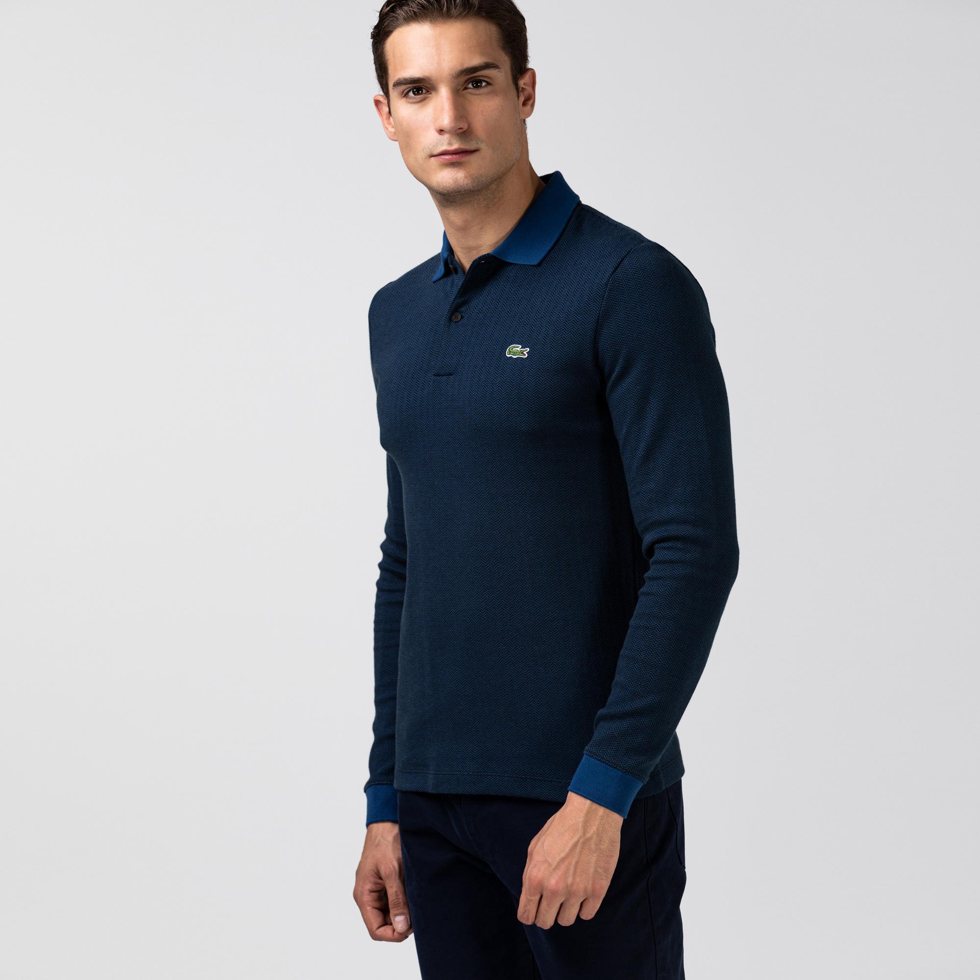 Lacoste Men's Regular Fit Herringbone Cotton Polo