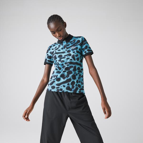 Lacoste Women's x National Geographic Animal Print Piqué Polo