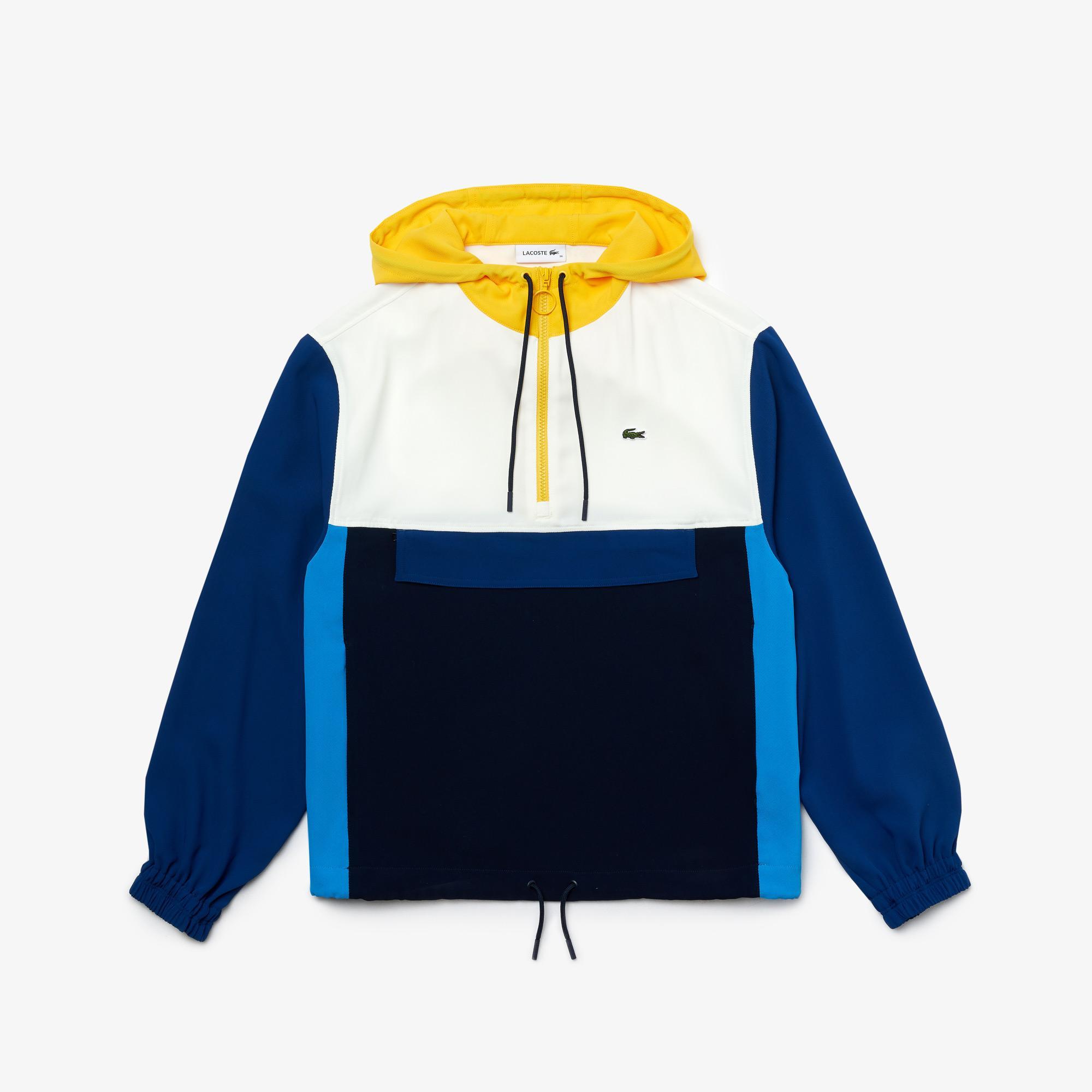 Lacoste Women's Colorblock Zip-Front Hooded Sweatshirt