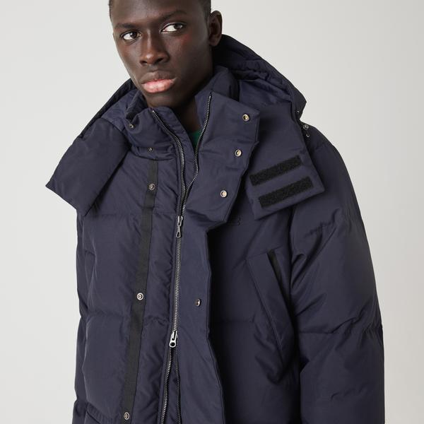 Lacoste Men's Detachable Hood Long Puffer Coat