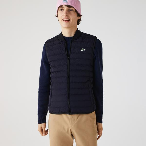 Lacoste Men's Lightweight Foldable Water-Resistant Puffer Coat