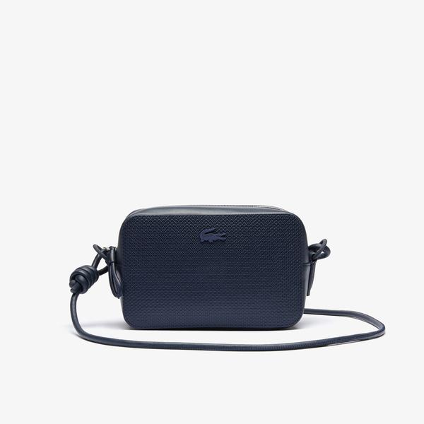 Lacoste Women's Chantaco Matte Piqué Leather Shoulder Bag