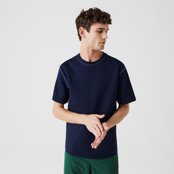 Lacoste Men's Reversible Cotton Blend Piqué T-shirt