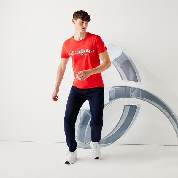 Lacoste Men's SPORT Collab Youssef SY Breathable Cotton T-shirt