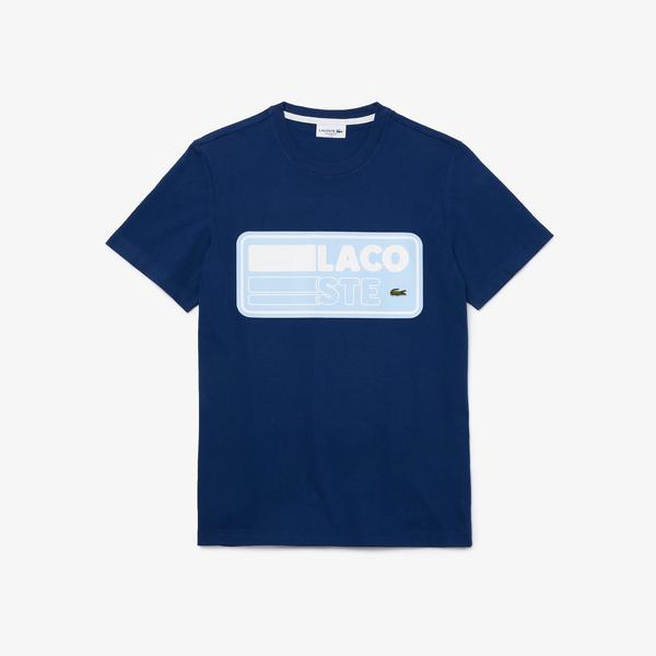 Lacoste Men's Cotton T-shirt With Printed Badge