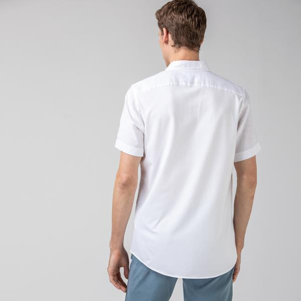Lacoste Men's Regular Fit Button-Down Collar Short Sleeve Shirt