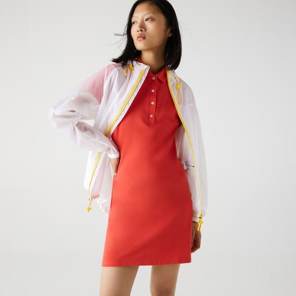 Lacoste Women's Stretch Cotton Piqué Polo Dress