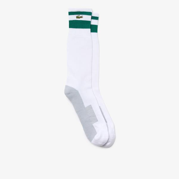 Lacoste SPORT Men's Long Stretch Cotton Tennis Socks