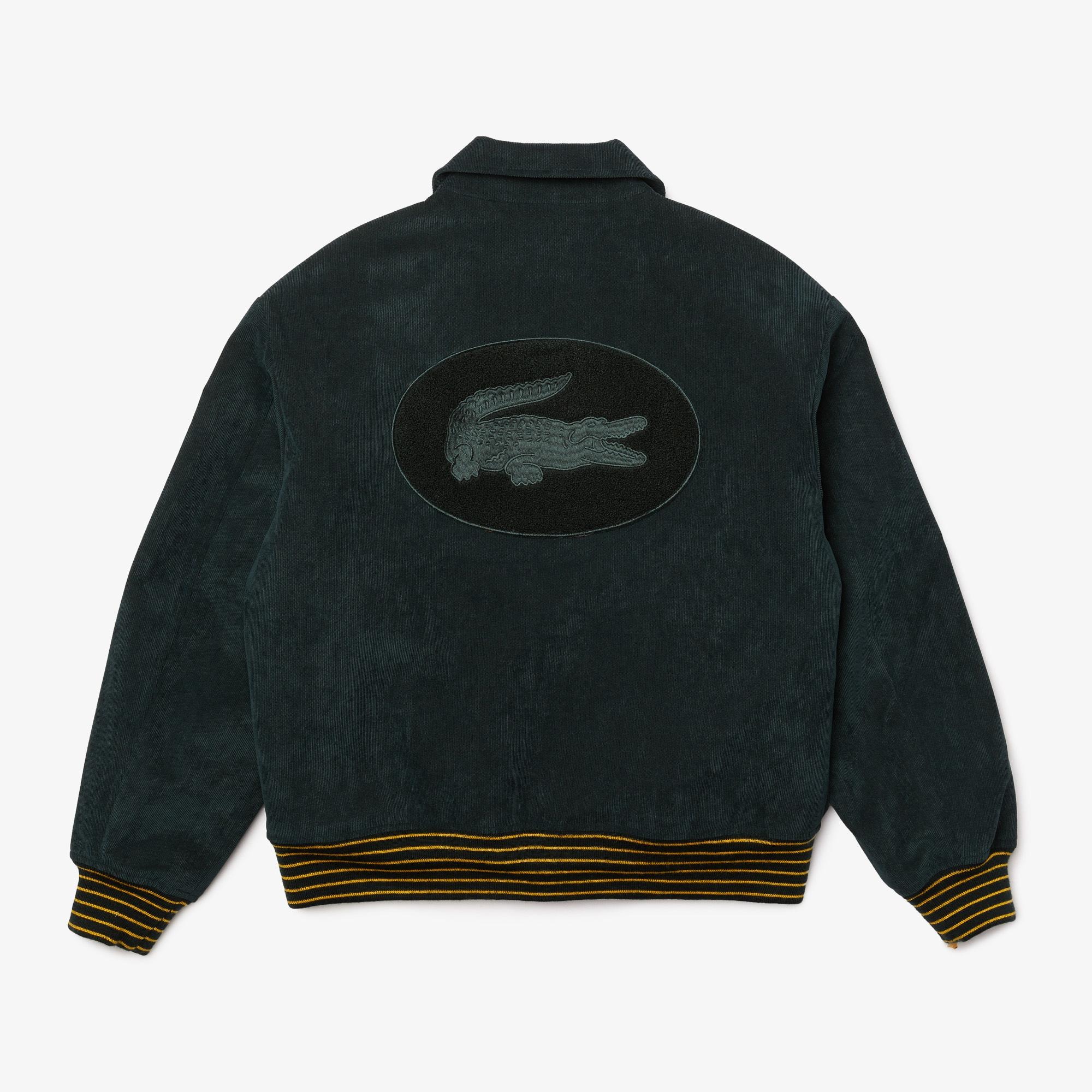 Lacoste L!VE Unisex Golden Embroidery Ribbed Velvet Teddy Jacket