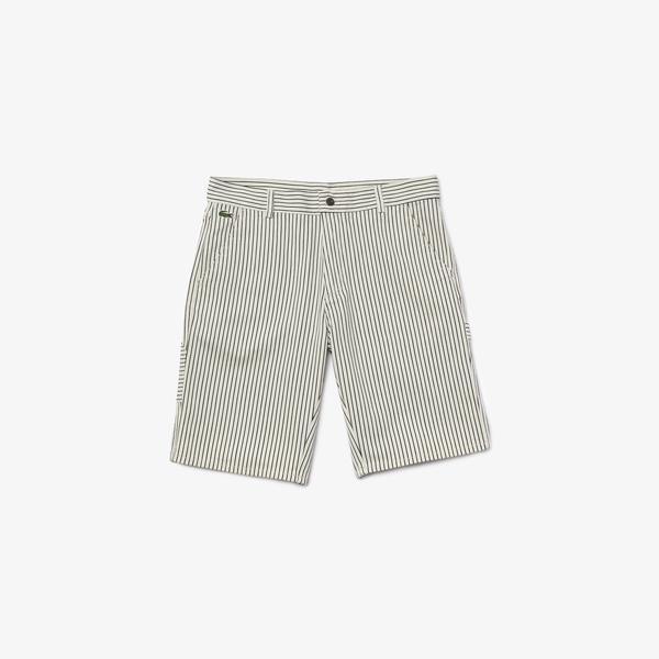 Lacoste Men's Lacoste LIVE Striped Cotton Fabric Bermuda Shorts