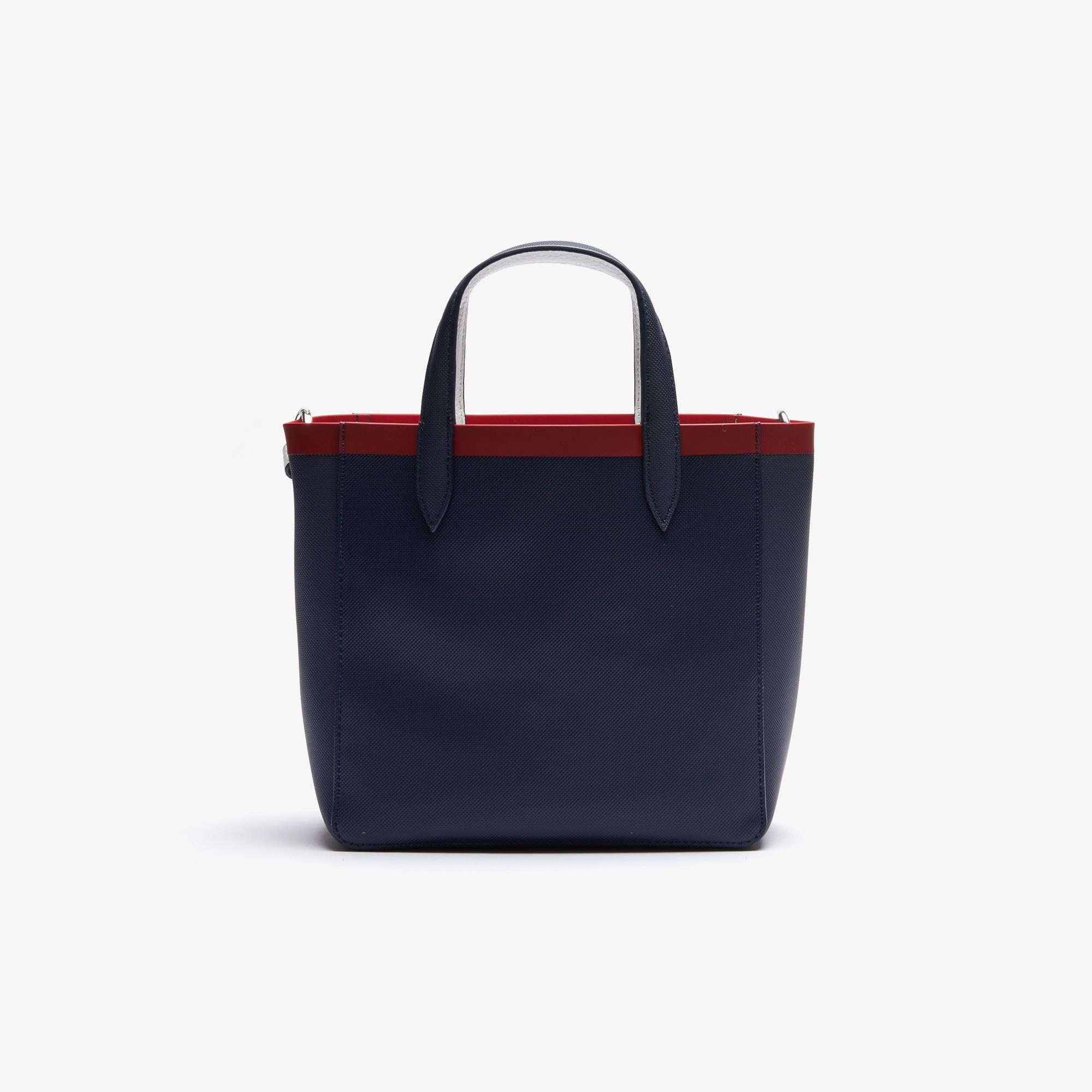 Lacoste Women's Anna Contrast L Reversible Coated Canvas Tote Bag