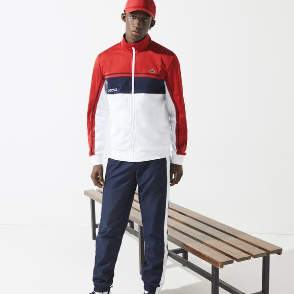 Lacoste SPORT Men's Resistant Colourblock Piqué Zip Sweatshirt