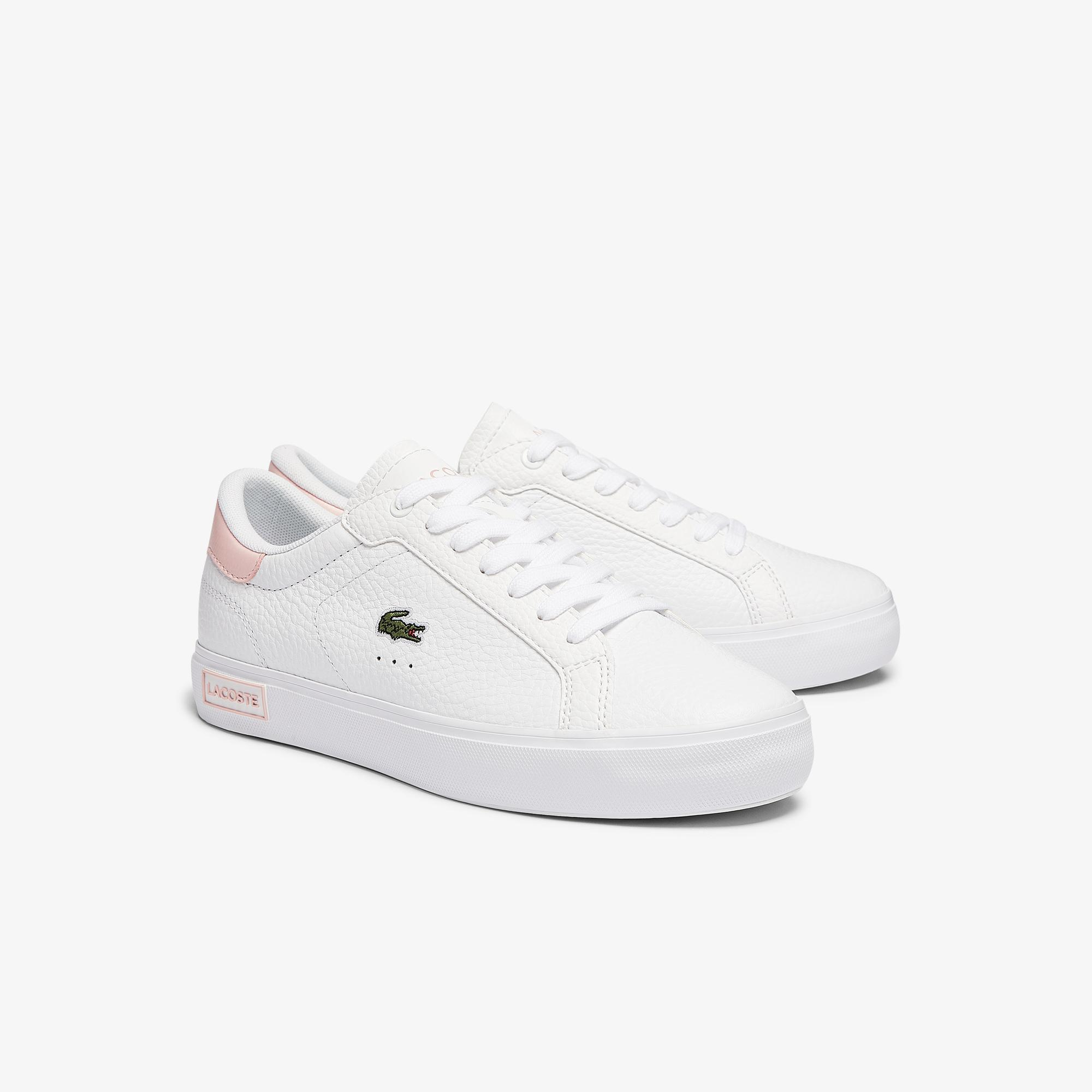 Lacoste Women's Powercourt Leather and Synthetic Sneakers