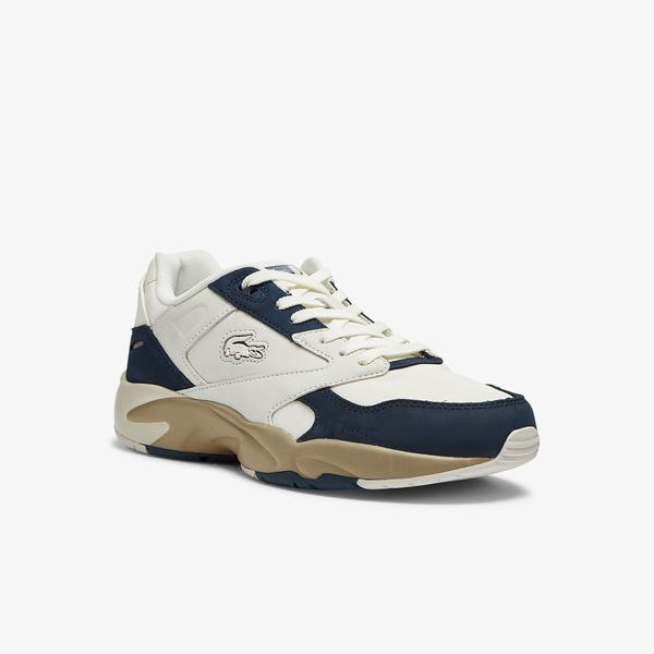 Lacoste Men's Storm 96 Lo Nubuck Leather Trainers
