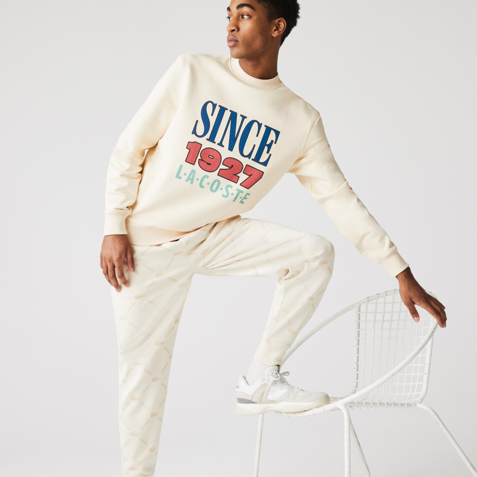 Lacoste L!VE Unisex Print Cotton Fleece Sweatshirt