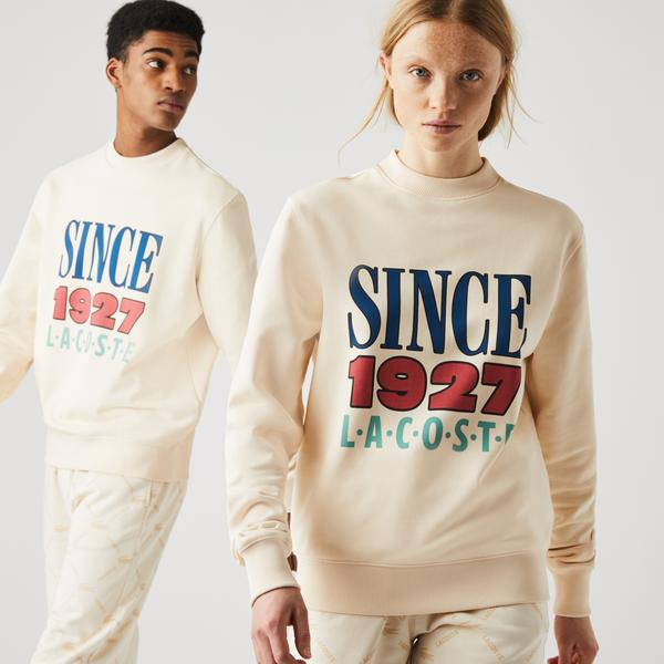 Lacoste L!VE Unisex Print Cotton Fleece Sweatshirt