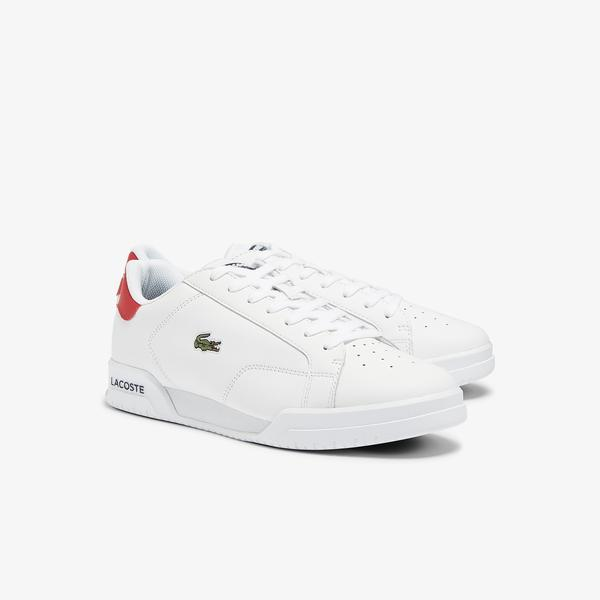 Lacoste Men's Twin Serve Leather Colour-Pop Trainers