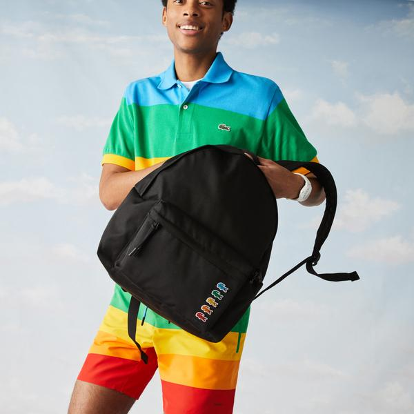 Lacoste x Polaroid Men's Multicolour Crocodiles Backpack