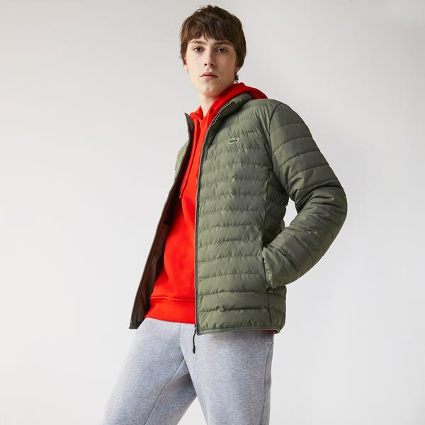 Lacoste Men's Lightweight Water-Resistant Quilted Zip Jacket