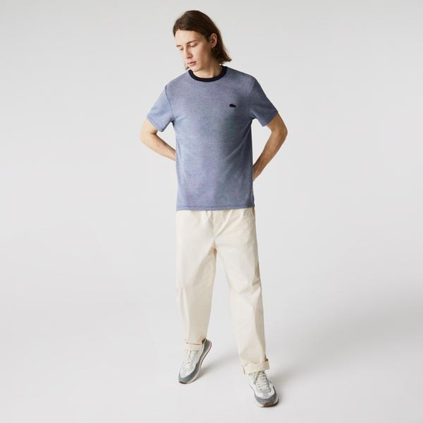 Lacoste Men's Crew Neck Textured Cotton T-shirt