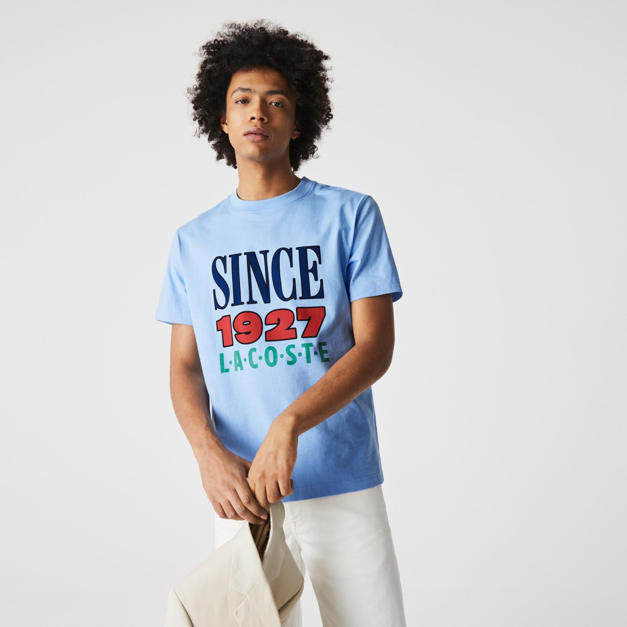 Lacoste L!VE Unisex Print Cotton T-shirt