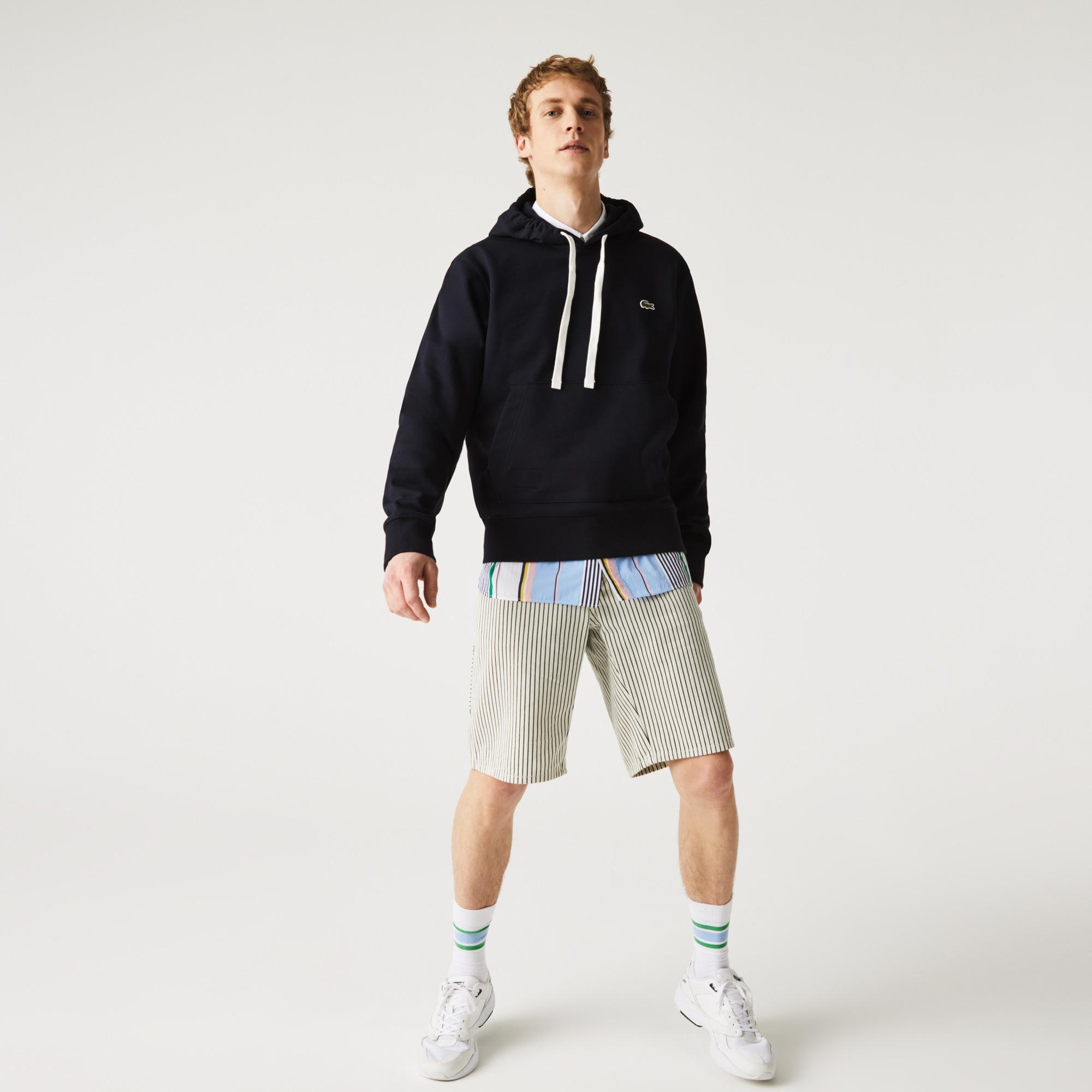 Lacoste Unisex Hooded Organic Cotton Fleece Sweatshirt