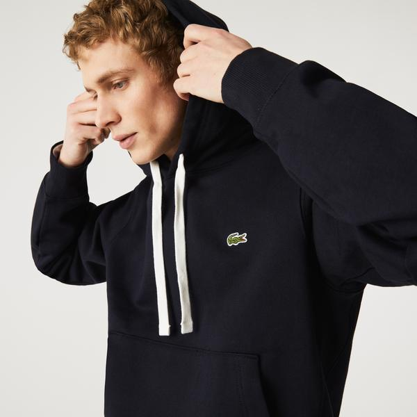 Lacoste Unisex Hooded Organic Cotton Fleece Sweatshirt