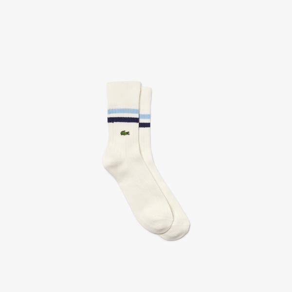 Lacoste Men's Striped Ankle Stretch Cotton Socks