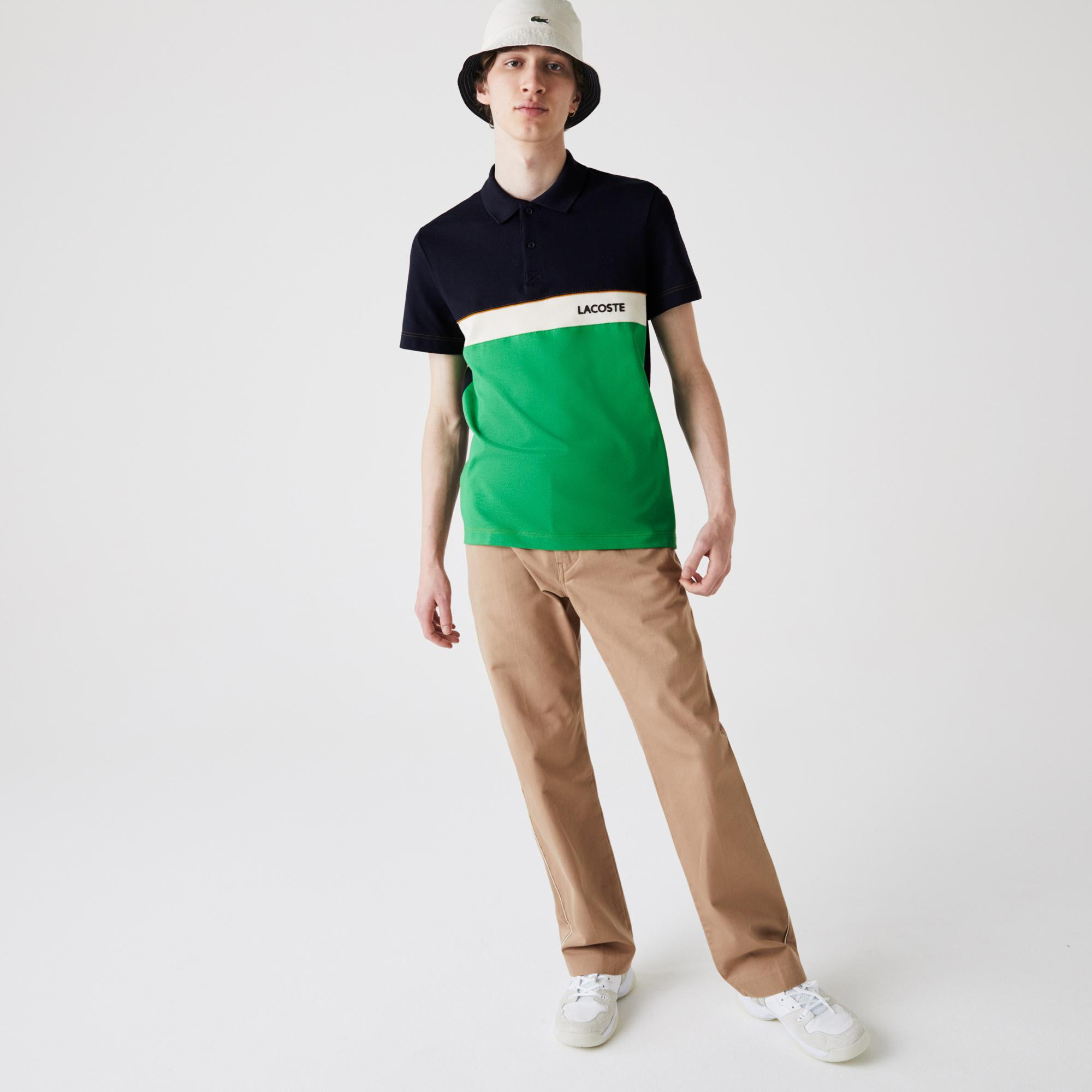 Lacoste Men's Regular Fit Colourblock Cotton Piqué Polo Shirt