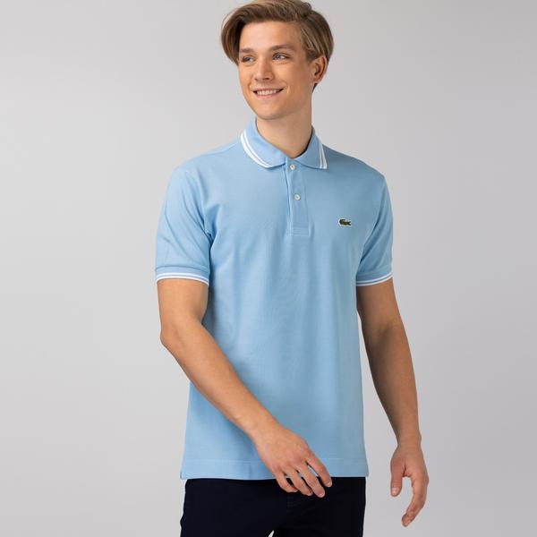 Lacoste Men's Classic Fit Striped Accents Cotton Piqué Polo