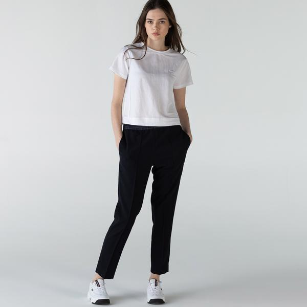 Lacoste Women's Wool Blend Lightweight City Athletic Pants