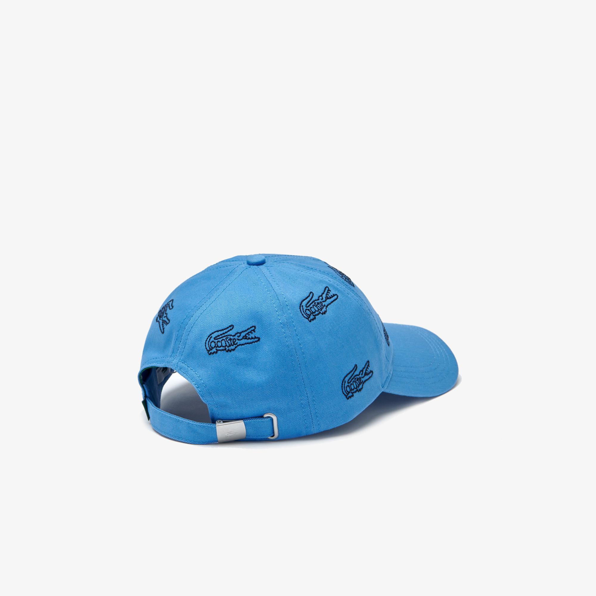Lacoste Men's Embroidered Crocodile Cotton Cap