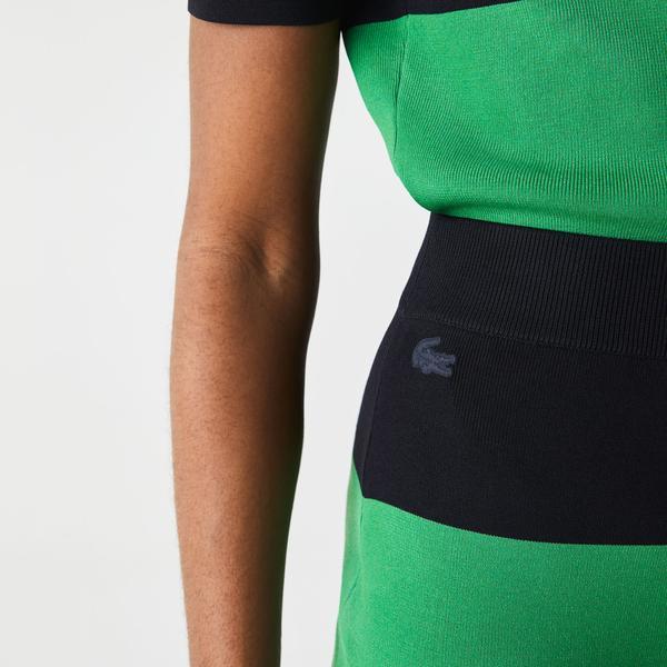 Lacoste L!VE Women's Long Striped Knit Skirt
