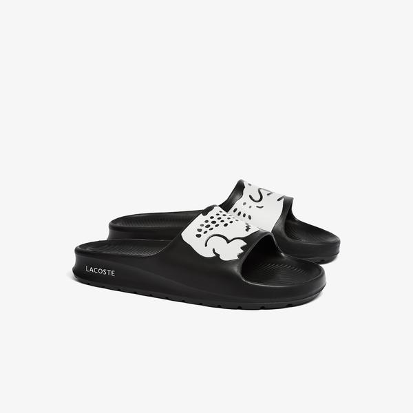 Lacoste Women's Croco 2.0 Synthetic Print Slides