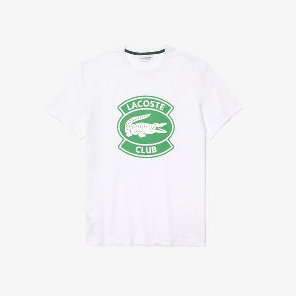 Lacoste Men's Crew Neck Oversized Lacoste Club Badge Cotton T-shirt