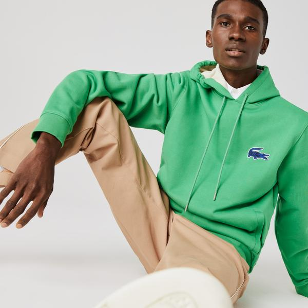 Lacoste Men's Hooded Badge Sweatshirt