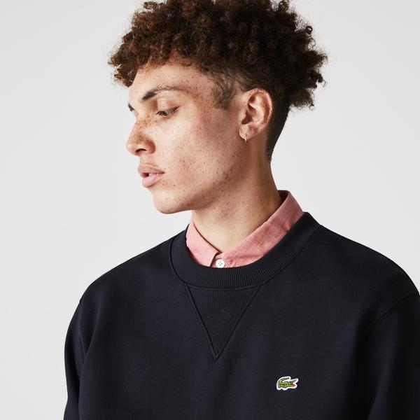Lacoste Unisex Crew Neck Organic Cotton Fleece Sweatshirt