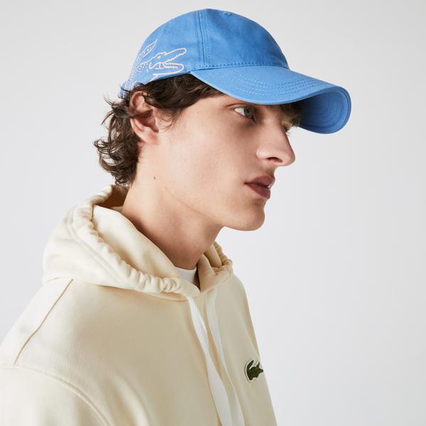 Lacoste Men's Crocodile Print Organic Cotton Cap