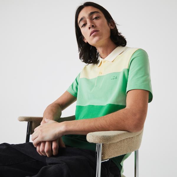 Lacoste Men's Regular Fit Fresh Colourblock Cotton Piqué Polo Shirt
