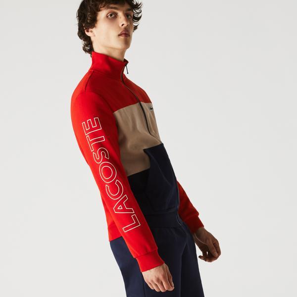 Lacoste Men's Printed Colorblock Fleece Tracksuit