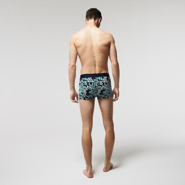 Lacoste Men's Stretch Cotton 3D Crocodile Trunk 3-Pack