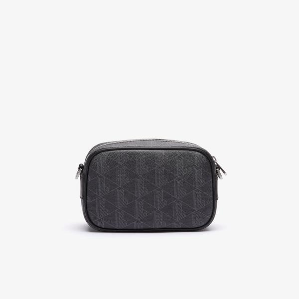 Lacoste Men's The Blend Small Monogram Canvas Crossbody Bag
