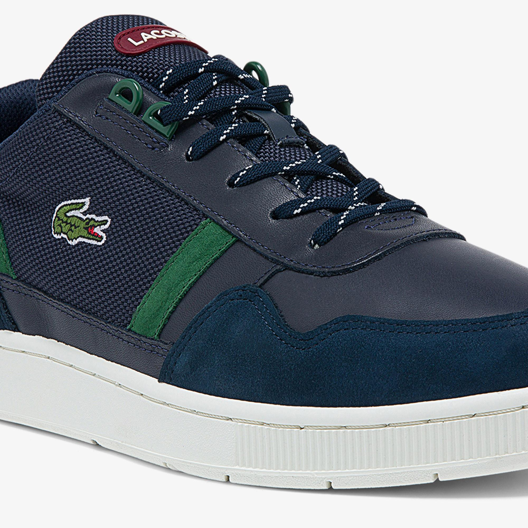 Lacoste Men's T-Clip Leather and Synthetic Winterised Sneakers