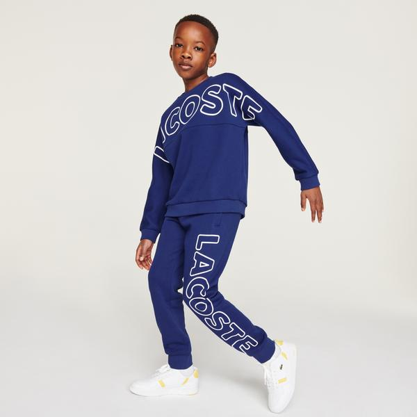 Boys' Lacoste Lettered Fleece Sweatshirt