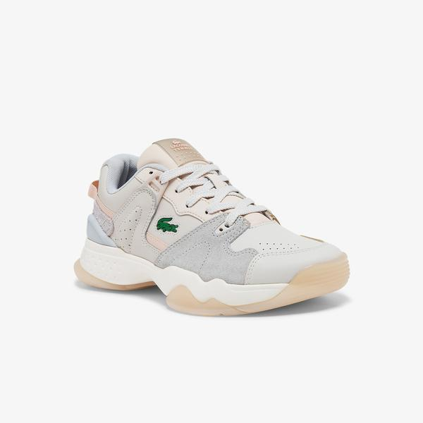 Lacoste Women's T-Point Leather and Suede Colour-Pop Sneakers