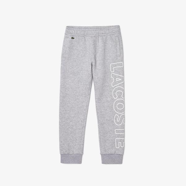 Lacoste Boys' Lettered Fleece Jogging Pants